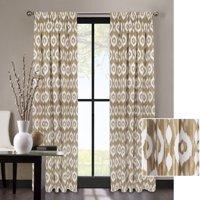 Better Homes & Gardens Tribal Ikat Natural Room Darkening Window Curtain Panel