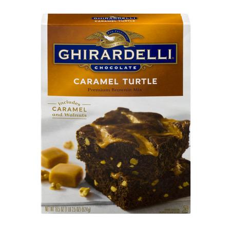 (4 Pack) Ghirardelli Chocolate Caramel Turtle Brownie Mix, 18.5 oz ()