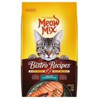 Meow Mix Bistro Recipes Grilled Salmon Flavor Cat Food, 3-Pound
