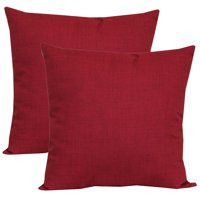 "Mainstays Outdoor Toss Pillow, 16"" x 16"", Rionu Really Red - Set of 2"