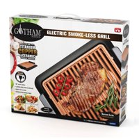 Gotham Steel Smokeless Electric Grill, Portable and Nonstick - As Seen On TV! LARGE