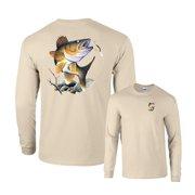 Walleye Going for Lure Fishing Long Sleeve T-Shirt