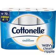 Cottonelle Ultra CleanCare 18 Mega Rolls, Toilet Paper, Strong