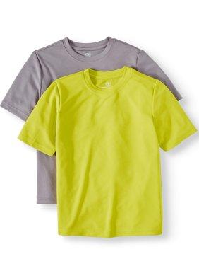 Short Sleeve Solid Performance Tee, 2-Pack Set Value Bundle (Little Boys & Big Boys)