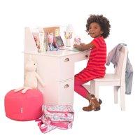 KidKraft Kids Desk with Chair and Corkboard, White or Espresso