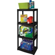 "Plano 22""W x 14""D x 48""H 4-Shelf Shelving Unit, Black"