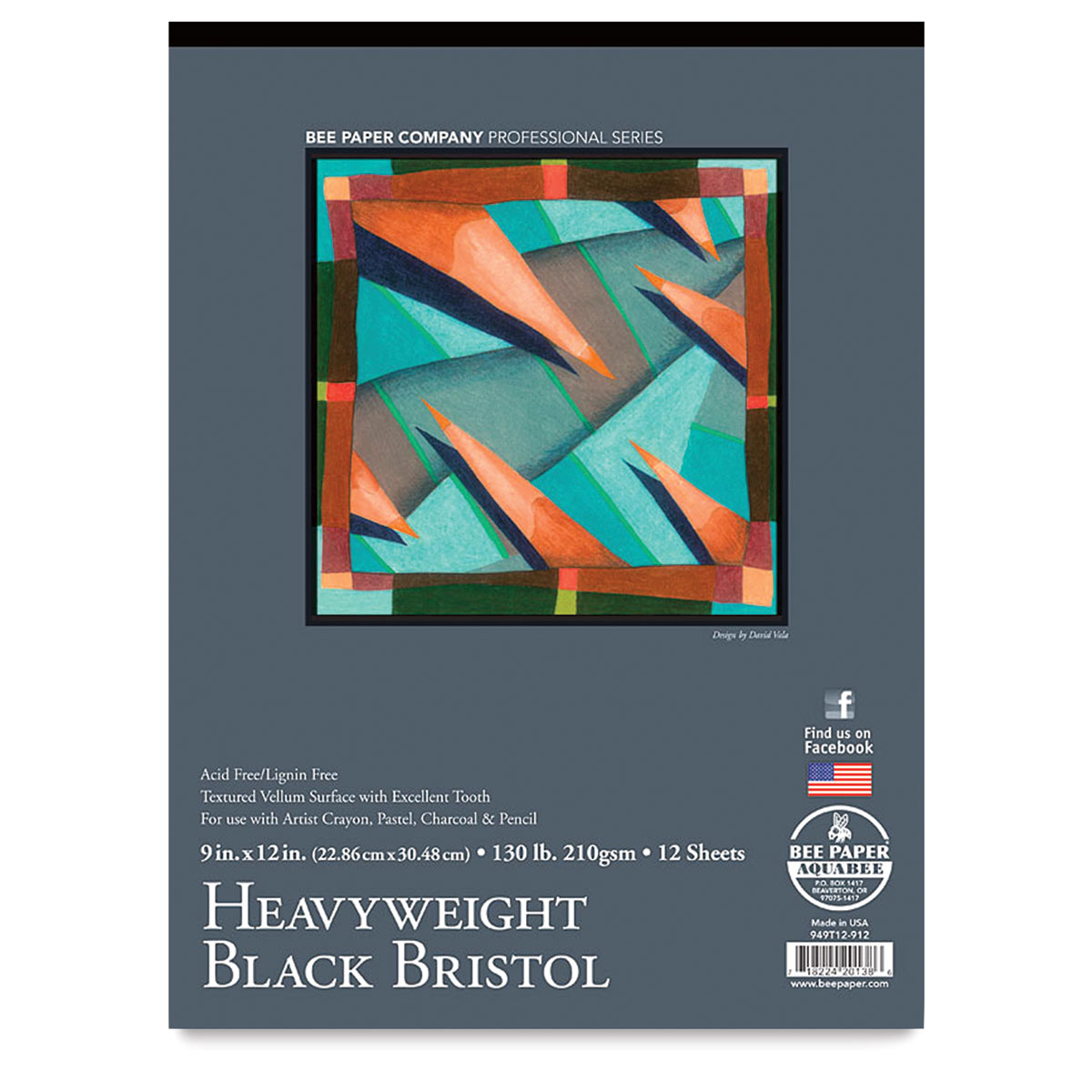 14-Inch by 17-Inch Bee Paper 2-Ply Plate Bristol Pad