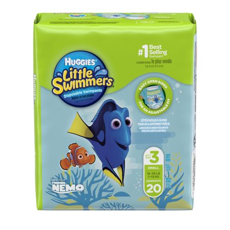 HUGGIES Little Swimmers Disposable Swim Diapers, Size Small, 20 Count Bumkins All In One Diapers