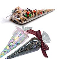 """The Elixir Party Crystal Clear Cellophane Cone Shaped Treat & Favor Bag - 100 Bags, 6"""" x 12"""""""