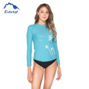 7fb62f68e3e Women's Rashguard Long Sleeve UV Protection Print Surfing Swimsuit Swimwear  Bathing Suits Coconut Tree Pattern