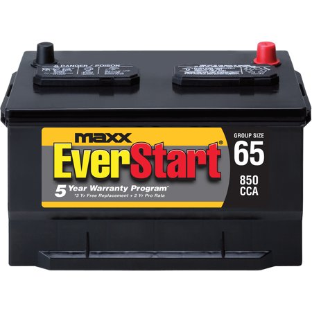 Everstart Battery Warranty >> EverStart Maxx Lead Acid Automotive Battery, Group 65n - Walmart.com