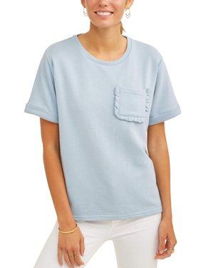 Women's Short Sleeve Ruffle Pocket T-Shirt