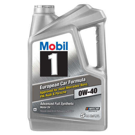 Clutch Oil - Mobil 1 Advanced Full Synthetic Motor Oil 0W-40, 5 qt.