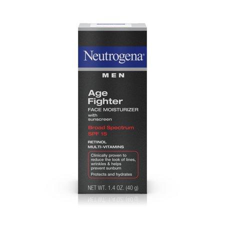 Neutrogena Men's Anti-Wrinkle Age Fighter Moisturizer, SPF 15, 1.4