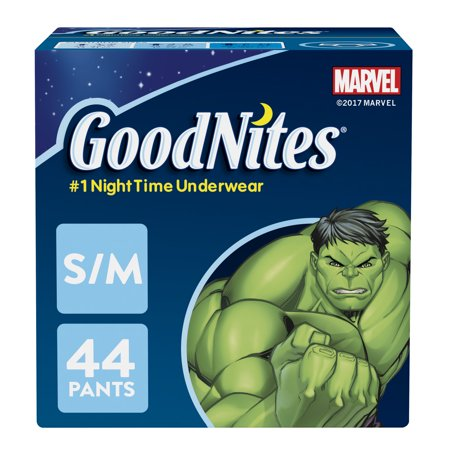 Goodnites Diapers Boys Underpants (GoodNites Bedtime Bedwetting Underwear for Boys (Choose Size and Count) )