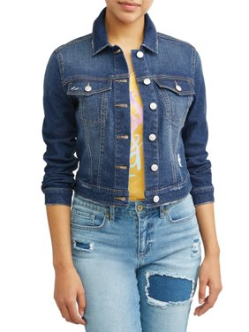 Product Image Marianella Soft Stretch Washed Denim Jacket Women\u0027s (Medium Indigo Wash) Womens Coats \u0026 Jackets - Walmart.com