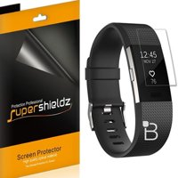 [6-Pack] Supershieldz Fitbit Charge 2 Screen Protector, [Full Screen Coverage] Anti-Bubble High Definition (HD) Clear Shield