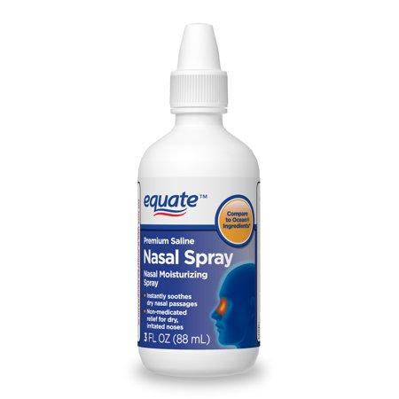 Equate Premium Saline Nasal Moisturizing Spray, 3 FL OZ