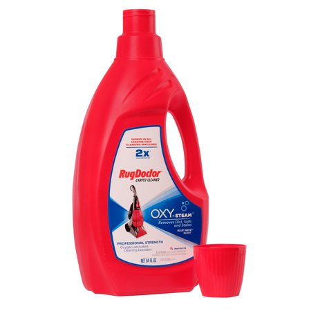 Rug Doctor Oxy-Steam Carpet Cleaning Solution; Removes Stubborn Stains with Powerful Oxygen Activated Boosters, for Carpet in the Home or Office; Works in All Leading Carpet Cleaning Machines; 64 oz.