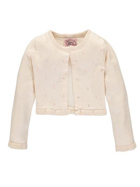 Sophie and Sam Girls 2T-4T Bead Flare Shrug Cardigan Sweater