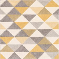 "Well Woven Mystic Alvin Modern Geometric Triangles Gold 3'3"" x 5' Area Rug"