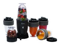 Elite Cuisine EPB-1800 Personal Drink Blender and Travel Cups