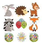 Mayflower Products Woodland Creatures Birthday Party Supplies Balloon Bouquet Decorations Rabbit Hedgehog Deer Raccoon Fox