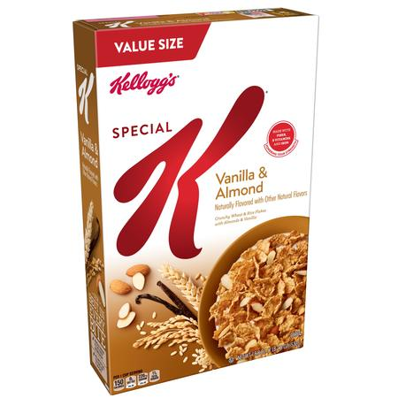 Kellogg's Special K Vanilla & Almond Breakfast Cereal Value Size 18.8 (Special K Coconut Cranberry Almond Cereal Nutrition)
