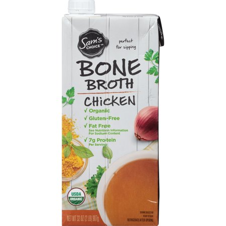 (6 Pack) Sam's Choice Organic Chicken Bone Broth, 32 oz