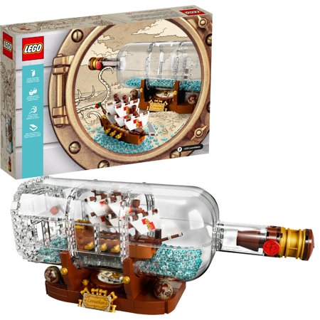 LEGO Ideas Ship in a Bottle 21313 Building Set (962 Pieces) - Lego Banner