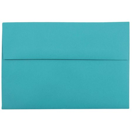 JAM Paper A8 Invitation Envelope, 5 1/2 x 8 1/8 Recycled, Brite Hue Sea Blue Recycled, 50/pack