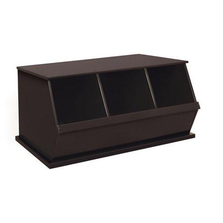 - Badger Basket - Stackable Three-Bin Storage Cubby, Multiple Colors