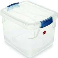 Clever Store FG3Q22CLMCB Latching Storage Container, 15 qt, 16.8 in L x 13.3 in W x 5.3 in H, Plasti