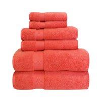 Superior 100% Zero Twist Cotton Super Soft and Absorbent 6-Piece Towel Set