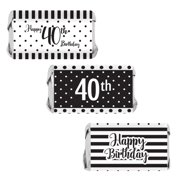 40th Birthday Candy Wrappers 54 Count