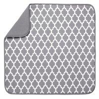 Schroeder & Tremayne XL Dish Drying Mat, Gray