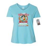 1f7407443d8 Wonder Woman Born In August Superhero Plus Size Womens V Neck T-Shirt Top