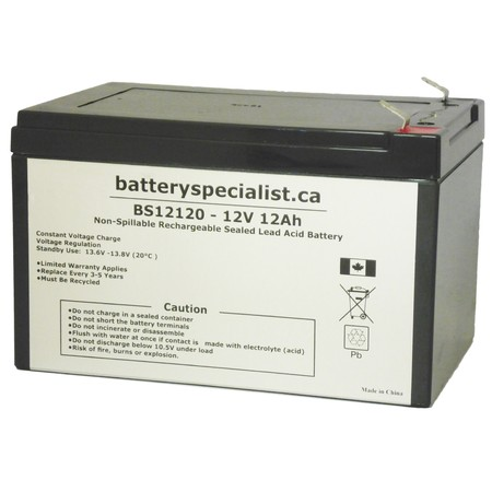 B & B Battery BP12-12 - Battery Replacement - 12V 12Ah - image 1 de 2