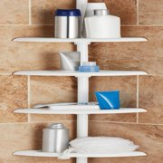 Mainstays Tension Pole Shower Caddy, White