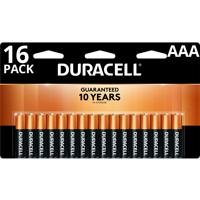 Duracell 1.5V Coppertop Alkaline AAA Batteries 16 Pack