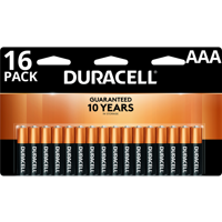 Duracell 1.5V Coppertop Alkaline AAA Batteries, 16 Pack