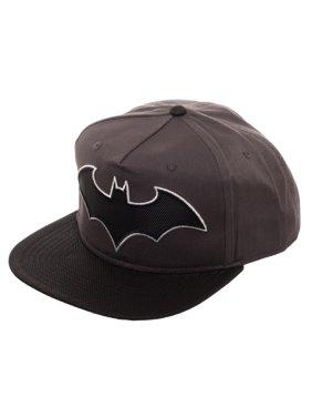 Boy's Batman Snapback Hat with Woven Batman Emblem and Flat Bill