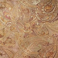 SHASON TEXTILE COSPLAY PAISLEY BROCADE FABRIC, GOLD.