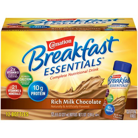 Carnation Breakfast Essentials Rich Milk Chocolate, 8 Fl. Oz., 12
