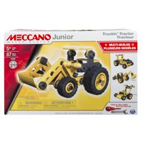 Meccano by Erector Junior, Truckin' Tractor, 4 Model Building Set, 87 Pieces, For Ages 5+, STEM BuildingConstruction Education Toy