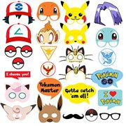 Pokemon Party Supplies 26 Photo Booth Props Suitable For Birthday Theme