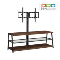 "Mainstays Arris 3-in-1 TV Stand for Televisions up to 70"", Perfect for Flat Screens, Canyon Walnut Finish"