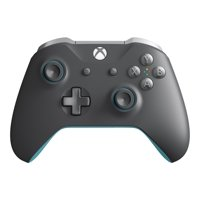 Microsoft Xbox One, Wireless Controller, Gray & Blue, WL3-00105
