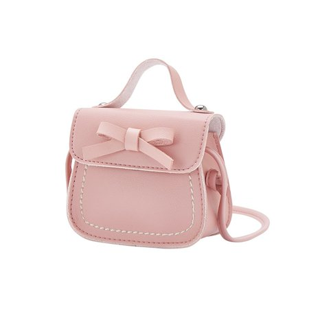 Weefy Kids Girls Lovely Mini Messenger Bag Bow Purses Handbags Princess Shoulder -