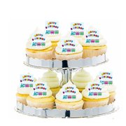 24pk Train Happy Birthday Edible Cupcake Decoration Toppers Picks